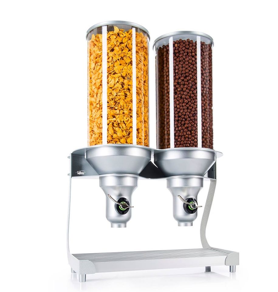 Idm Dispenser   ADC400-FF   Free Flow   2 Containers  Cereal   Candy   Natural Food  