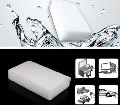 Chalkboard sponge   eraser   5 pack   White   Eco material