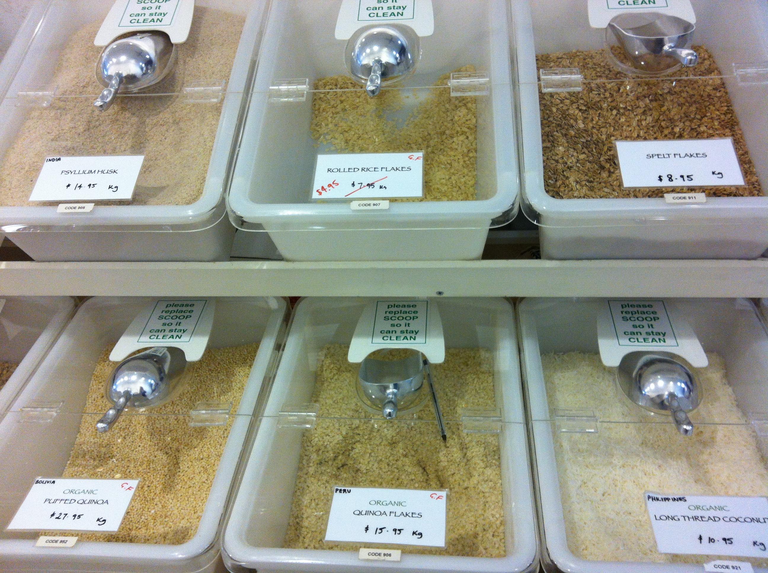 Bulk Dry Food Bins Logo | 16Lt | 27Lt | Natural | Sweet | Nuts | Rice | Flour | Dog Food