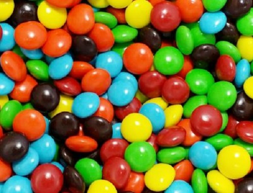 Choc Button Rainbow colours