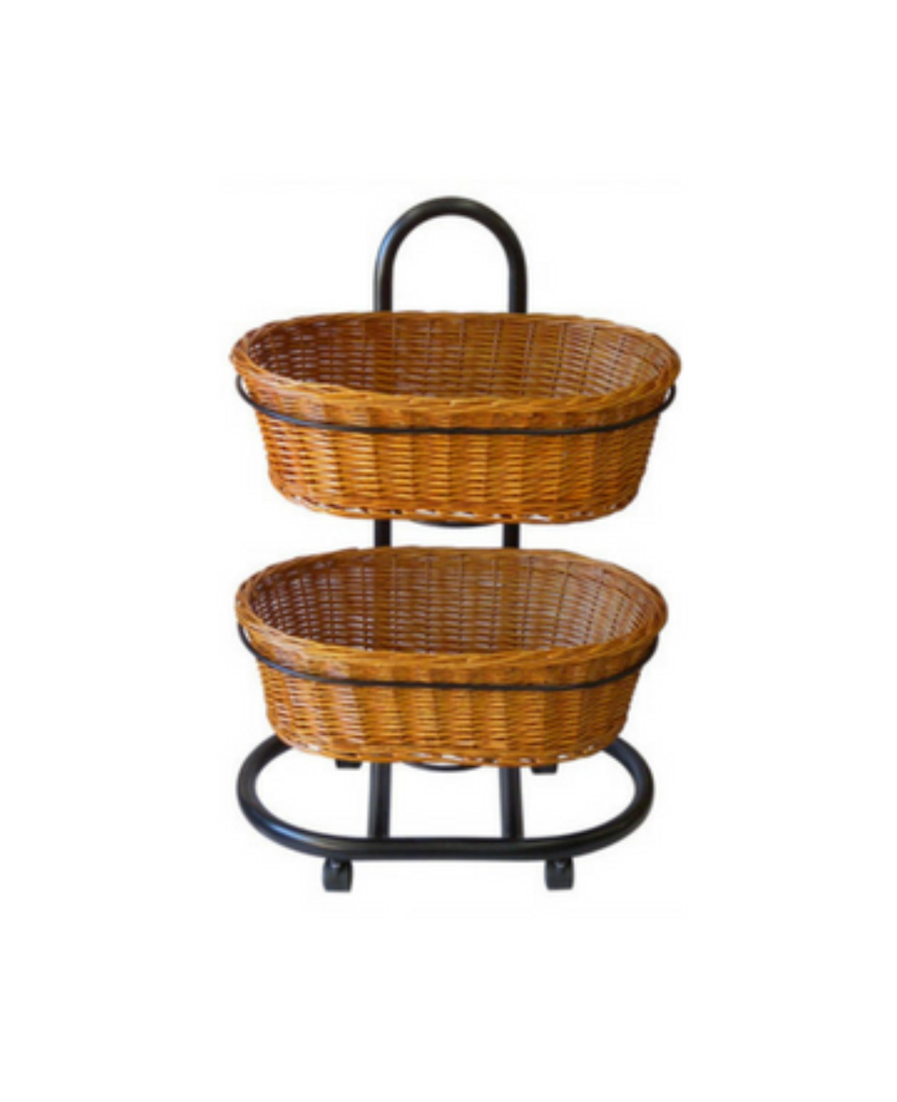 Polywicker Oval Baskets Double Stand