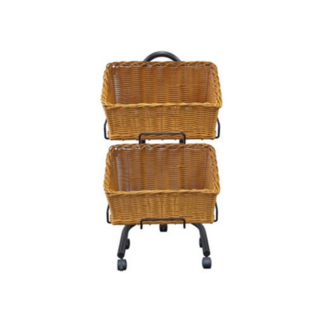 Polywicker Slanted Baskets Double Stand