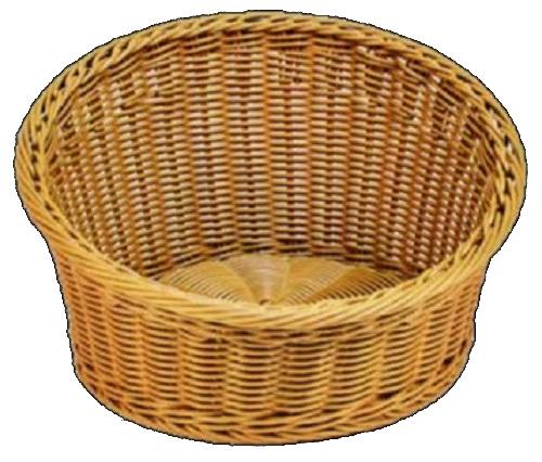 Polywicker Basket Round Slant Sided - Natural