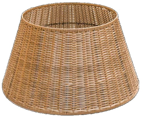 Polywicker Display Basket Round base Large